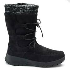 $80 Womens Itasca Deidre Black Fx Suede Water Resistant Winter Boots-size 10