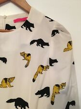 Modcloth Pinkyotto Yellow Panda Critter Print Dress NWOT Small NWOT