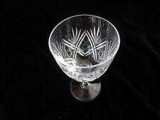Thomas Webb Cut Glass Crystal Wine Glass St Andrews Pattern
