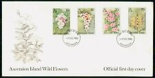 Mayfairstamps Ascension Island 1985 Wild Flowers Quad Frank First Day Cover wwh3