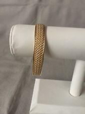 Woven Rope Cuff Bracelet 18K Yellow Gold
