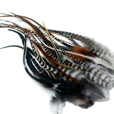 Real Feather Hair Extensions: 25 Fluffys KIT: RINGS INCLUDED