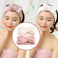 Microfiber Women Hair Band Cute Coral Fleece Bow Hair Accessories New