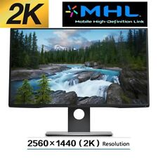 "New Dell 27"" 2K QHD 2560x1440 UltraSharp InfinityEdge IPS LED Monitor MHL HDMI"