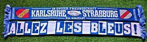 "Karlsruhe Schal ""ALLEZ LES BLEUES"" Ultra Fan Block 100% Acryl NEU + 150x15 cm +"