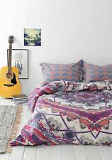 """Urban Outfitters Magical Thinking Mountain Medallion Duvet Pink Twin XL 66""""x 90"""""""
