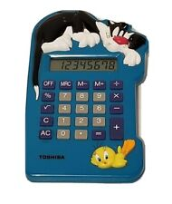 VINTAGE 1995 TOSHIBA LOONEY TUNES CALCULATOR SYLVESTER & TWEETY BIRD LT-500 SYL