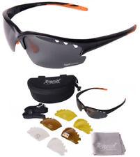 Occhiali e monolente da ciclismo e lenti in nero, con 100% UVA & UVB