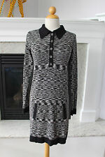 MISSIONI For Target Black Gray Lightweight Sweater Sheath Op Art Dress XS