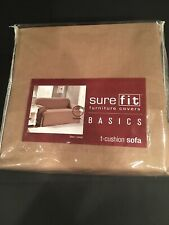 NEW Sure Fit Furniture Cover Cotton Duck T Cushion Sofa Cover Color Cocoa