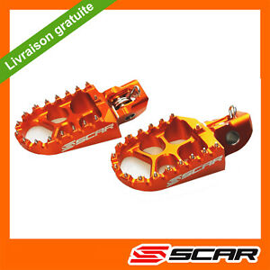 REPOSE PIEDS EVO KTM 125 150 250 300 350 450 500 EXC EXCF 17-20 2020 ORANGE SCAR