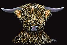 Highland Mucca Pelose * ORIGINALE * dipinto 'Ricci wurly!' Shirley MacArthur