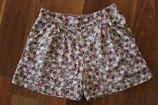 Dotti High Waisted Floral Rose Shorts Size 12