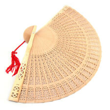 Accessotech Ladies Fragrant Sandalwood Hand Fan Wooden Scented for Wedding Party