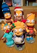 SIMPSONS Noël Vacances plush doll Lot APPLAUSE Homer Marge Bart Lisa Maggie