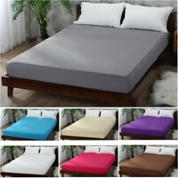 Fitted Bed Sheet Brushed Microfiber Hypoallergenic Soft Wrinkle & Fade Resistant