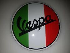 CLASSIC VESPA SERVIZIO-ITALIAN SCOOTER PORCELAIN ENAMEL SIGN SIZE 30cm