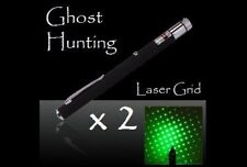Ghost Hunting Green Laser Grid Pen x 2 +Hands-Free PVC Rings