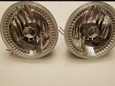 Euro clear flat h4 head lights vw bug bus ghia bus mg  bmw 2002tii e10 datsun z