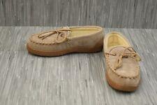 Old Friend Cloth Moccasins 421221 Slippers, Men's Size 8 W, Beige