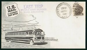 Mayfairstamps US 1969 White Rock Shreveport HPO Last Trip Mobile Unit Artmaster