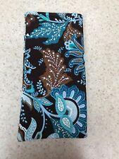 Sunglass / Eyeglass Fabric Case - Handmade w/ Vera Bradley Retired Java Blue