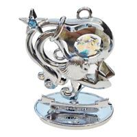 Crystocraft Aquarius Crystal Ornament Swarovski Elements Zodiac Sign Gift Boxed