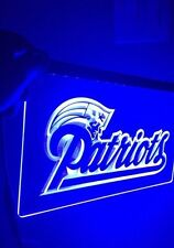 NFL New England Patriots Blue LED Neon Sign for Game Room,Office,Bar,Man Cave
