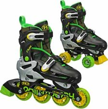 New! Roller Derby Flux Inline/Roller Combo Skates Boy's 3-6 return