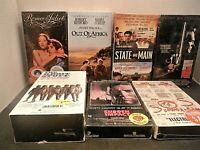 Movie Lot #1 Seven Still Sealed VHS Tapes Eastwood Redford The Right Stuff More!