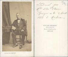 Gustave Croissant, Morlaix, Mr Du Plessis CDV, vintage albumen carte de visite