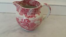 16 Oz Pitcher ENOCH WOODS WARE Wood & Sons English Scenery Pink Transferware