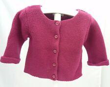 KITCHOUN-Veste tricot manche longue prune bébé fille 3 mois