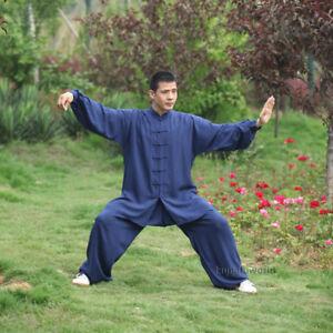 Cotton Tai chi Uniforms Kung fu Martial arts Wushu Suit Wing Chun Clothes