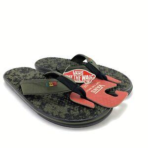 VANS Men's Rasta La Costa Lite Grape Leaf Black UltraCush Sandals Flip Flops