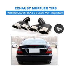 2x Exhaust Muffler Pipe Dual Tips W211 For Mercedes-Benz E320 E350 E55 AMG 02-08