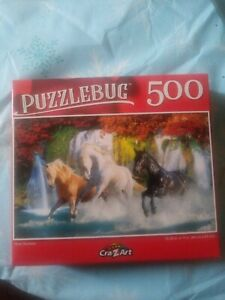 Classic horse lovers puzzle 300 pieces., River runners