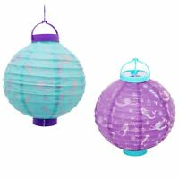 Pretty Mermaid Paper Lantern Balloon With Led Light Hanging Decoration