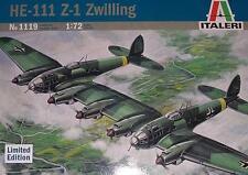 Italeri 1/72 Heinkel He 111Z Zwilling Twin Heinkel Luftwaffe WWII Kit #1119 Mint