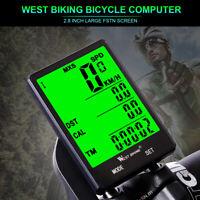WEST BIKING Kabellos Fahrradcomputer MTB Rennrad Tachometer Kilometerzähler DE