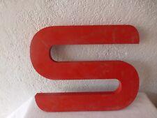grande lettre S enseigne magasin deco loft industriel atelier vintage deco