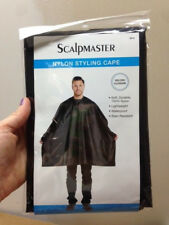 Scalpmaster100% Nylon Hair Salon Black Styling Cape Unisex 45x54 -  #3021 Velcro