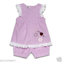 "Aurora Royal "" Ladybird"" Embroidery Baby Girl Cotton Tunic& Shorts Outfit"