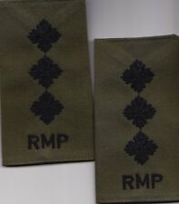 ROYAL MILITARY POLICE CAPTAIN COMBAT  rank epaulettes