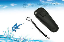 Compact portable heavy duty sheath / pouch and lanyard for fishing pliers
