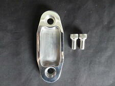 CLEVELAND PETROL PUMP BLOCK OFF PLATE BILLET ALUMINIUM POLISHED