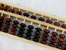 Chinois mathématiques Bois Abacus bouton reset Calculatrice Enfants Adultes Learner