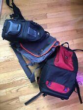 Lowepro Fastpack 350 Backpack, Passport messenger Bag, And SlingShot AW 100.