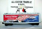 O SCALE LIONEL 3 RAIL CUSTOM LETTERED TRUMP 2020 COLLECTIBLE REEFER  LOT H