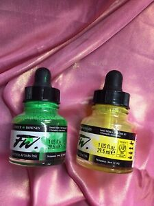 4 Part Used Daler Rowney Acrylic Artists Inks